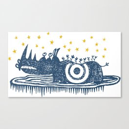rhinoceros stares into the stars Canvas Print