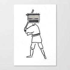 luke typewriter Canvas Print