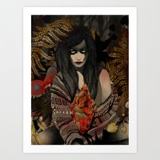 The Keepers - Red Pulse Art Print