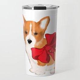Cute corgi with a bow,beautiful gift idea for corgi lovers Travel Mug