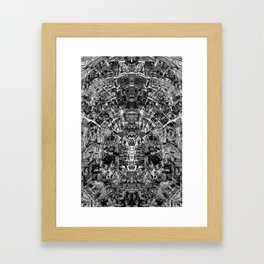 Mirrored Black and White Cityplan Framed Art Print