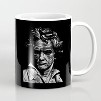beethoven Mugs featuring Beethoven by G_Stevenson