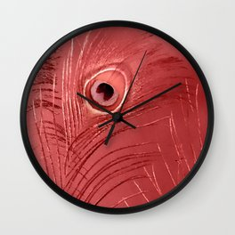 Red Feathers | Peacock Feathers | Nadia Bonello | Ottawa Canada Wall Clock
