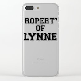 Property of LYNNE Clear iPhone Case