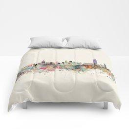 hong kong city skyline Comforters