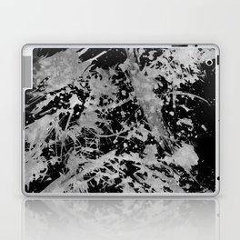 Black gray watercolor abstract brushstrokes paint Laptop & iPad Skin