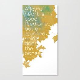 A joyful heart Canvas Print