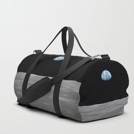Earth rise over the Moon Duffle Bag