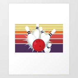 Retro Bowling American Design for a Bowler Or Bowling Club Art Print