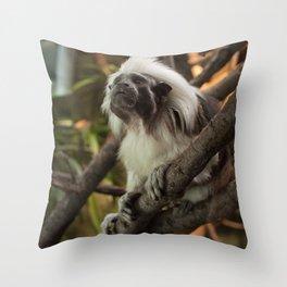 Wise Old Monkey Throw Pillow