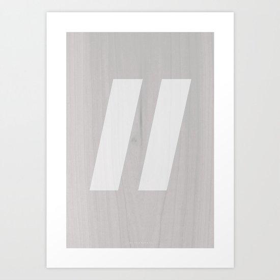 Slash White Art Print