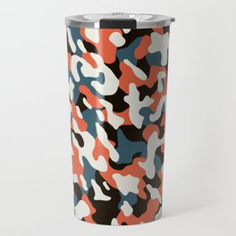 U-Bahn blobs abstract pattern Travel Mug