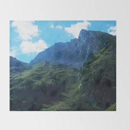 Pastures in the Alps Throw Blanket