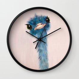 Blue Ostrich Wall Clock