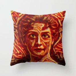 Spagetti Edwardian Throw Pillow