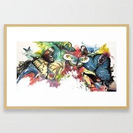 Butterfly Central Framed Art Print