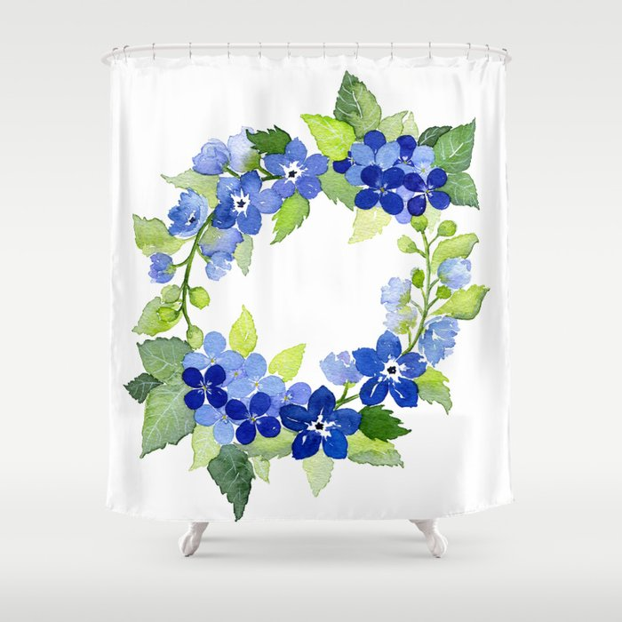 French Blues Shower Curtain