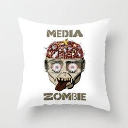 Media Zombie Throw Pillow
