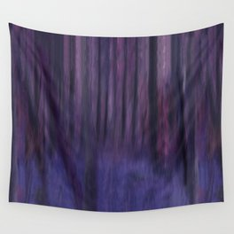 Painted Trees 2 Purples Wall Tapestry