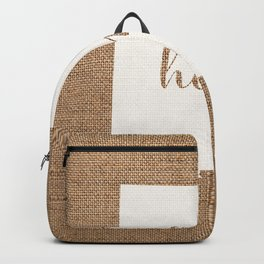 New Mexico is Home - White on Burlap Backpack