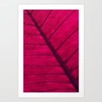 leaf Art Prints featuring leaf by Claudia Drossert