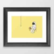 Spaceman waiting Framed Art Print