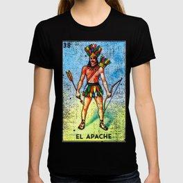 El Apache Mexican Loteria Bingo Card T-shirt
