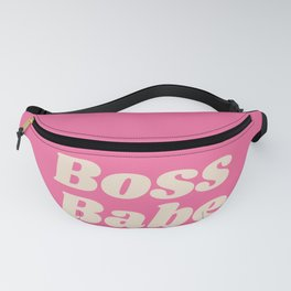 Retro Boss Babe - Pink Fanny Pack