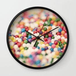 Close up of colorful sprinkles Wall Clock