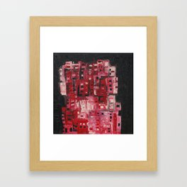 Red towers Framed Art Print