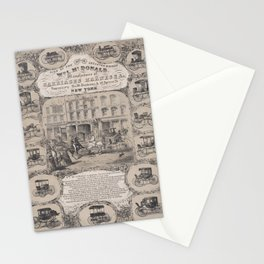 Wm. L. McDonald, Manufacturers of Carriage Harness & Co. Repository, No. 26 Beekman & 18 Spruce Stre Stationery Cards