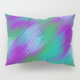 purple green and pink painting texture abstract background Pillow Sham