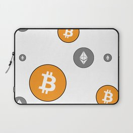 Ethereum and Bitcoin Pattern Laptop Sleeve