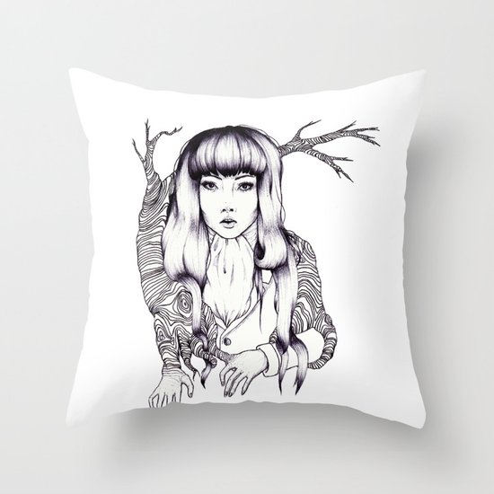 Tree Woman Throw Pillow