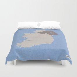Ireland Linen Fabric Map Art Duvet Cover