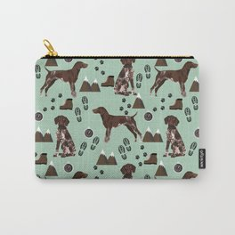 German Shorthair Pointer mountain hiking hiker outdoors camping dog breed Carry-All Pouch