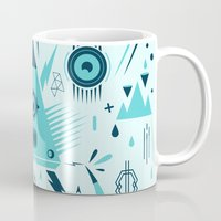 transformer Mugs featuring Triangle Alien Transformer Attack  by badbugs_art