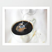 Coffee and Cream (not soy)  Art Print