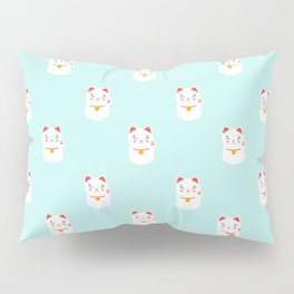 Lucky happy Japanese cat pattern Pillow Sham