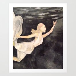 Reaching for the Surface Art Print