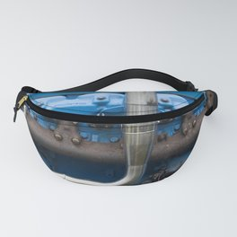 Blue Tractor Motor Fanny Pack