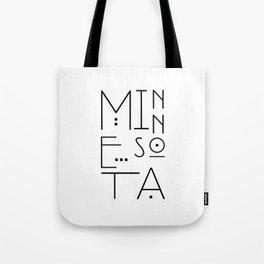 Minnesota Typography Tote Bag