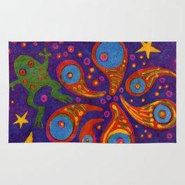 Space Frog batik Rug