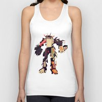 car Tank Tops featuring famous car monster by Yetiland