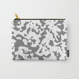Spots - White and Gray Carry-All Pouch