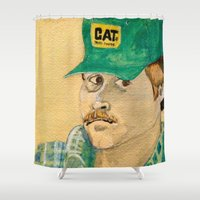 swanson Shower Curtains featuring Dennis Swanson watercolor™ by Space/Vampire