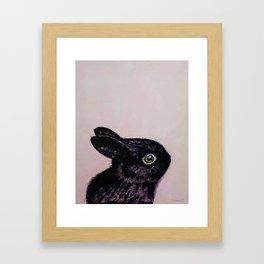 Black Bunny Framed Art Print