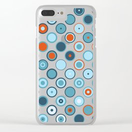 Rowanberry Winter Dots and Circles Day Clear iPhone Case