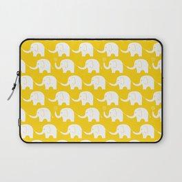 Elephant Parade on Yellow Laptop Sleeve