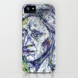 JOHN LOCKE watercolor and ink portrait.1 iPhone Case